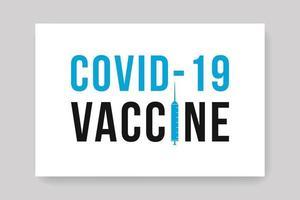 covid 19 vaccine banner vector