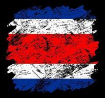 bandera de costa rica grunge cepillo antecedentes vector