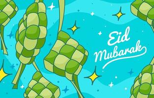 Handrawn Eid Ketupat vector