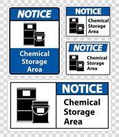 Notice Chemical Storage Symbol vector