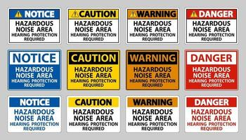 Se requiere protección auditiva para áreas de ruido peligrosas vector