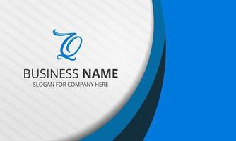Stylish White Blue Curved Business Background vector