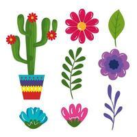 set of traditional icons of cinco de mayo vector