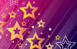 Star and Gradient Outline Background vector