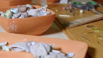 Handmade Working in a Ceramic Studio Workshop video