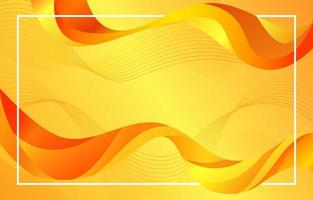 Abstract yellow liquid background vector
