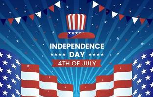 Fourth of July Independence Day Background vector