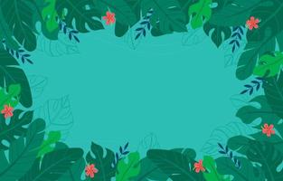 Summer Background With Tropical Floral vector