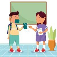 Back to School in New Normal vector