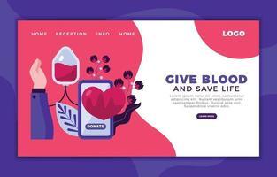 donar sangre está a solo un clic de distancia vector