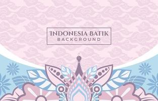 Bright Pink Batik With Flowery Pattern Background vector