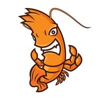 personaje de dibujos animados de la mascota del tema del deporte langost vector