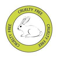 sello libre de crueldad vector