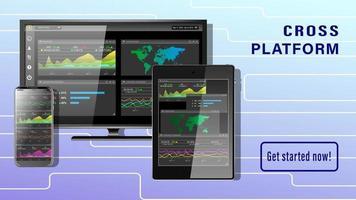 Cross Platform diagrams on screen vector