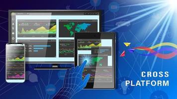 Cross Platform business dashboard financial vector