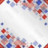 Gradient Geometric Red Blue White Background vector