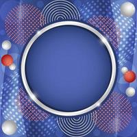 Gradient Geometric Abstract Red Blue White Background vector
