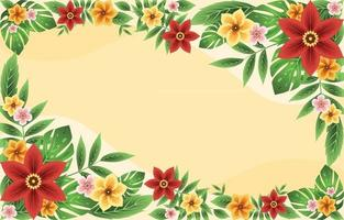 Colourful and Beautiful Summer Tropical Floral Background vector