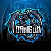 Dragon esport mascot logo design vector