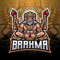 Brahma esport mascot logo design vector