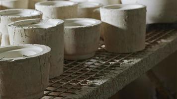Clay Pots Mold in a Ceramic Studio Workshop video