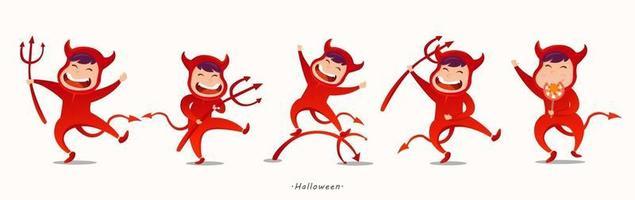 Happy Halloween day evil cartoon character design Vector
