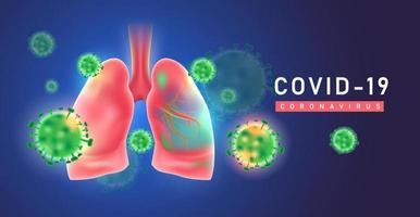 Covid19 Coronaviruses in the lung pathogen respiratory influenza covid virus cells vector