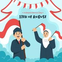 Independence Day Indonesia on 17th August vector