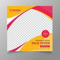 Fashion seal social media post banner vector