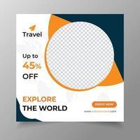 Travel Social Media Post Banner vector