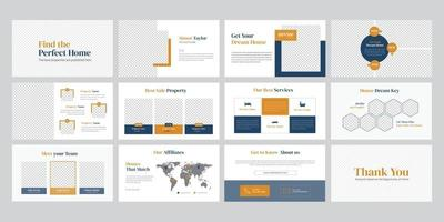 Real estate business presentation template vector