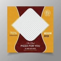 Pizza social media social media post banner vector