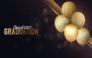 Elegant Graduation Photo Frame with Baloon vector