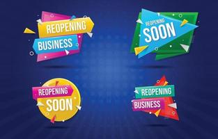 Reopening Business Banner Set vector