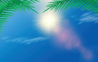 Sun and Light Flare Background vector
