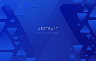 Blue Triangles Background vector