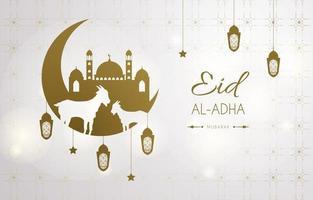Ornamental Eid Al Adha Background vector