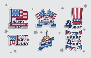 Fourth of July Stickers vector