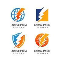 Creative electric logo design template vector