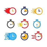 fast time vector icon design