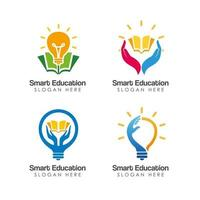 smart education logo design template vector