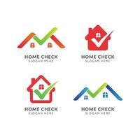 Home check icon logo design template vector