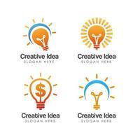 creative idea bulb icon logo design vector