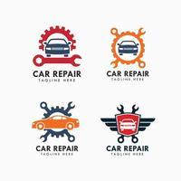 Plantilla de diseño de logotipo de garaje y reparación de automóviles vector
