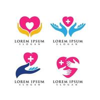 hand care logo symbol design template vector