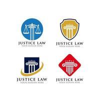 plantilla de diseño de logotipo de abogado y justicia vector