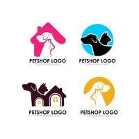 pet shop logo design template vector