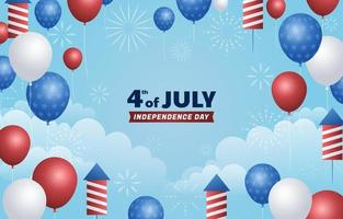 4th of July sky Background vector