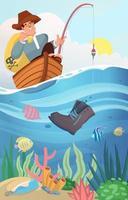 Help Clean The Sea Concept vector