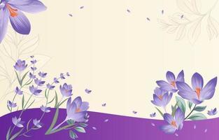 Blooming Purple Lavender vector